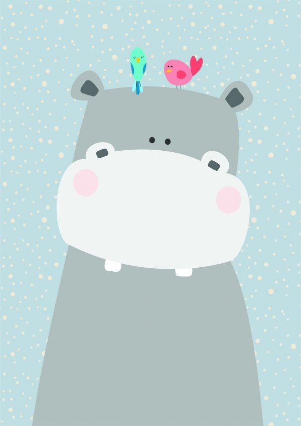 poster-hipopotamo-walldone