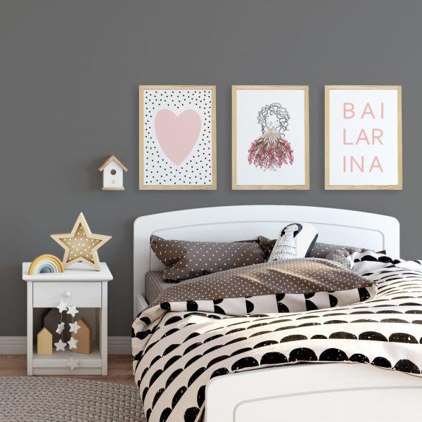 kit-quadros-quarto-menina | Wall Done