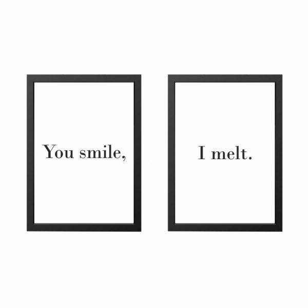 quadros-smile-melt-moldura-preta-walldone