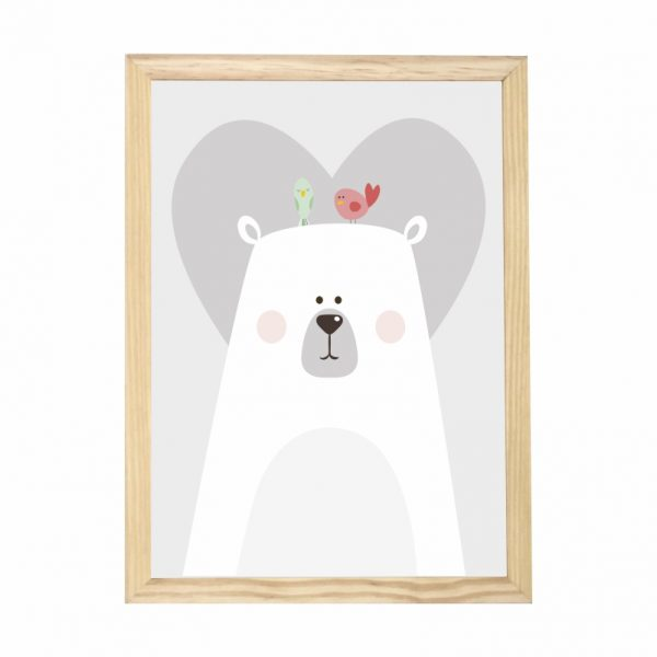 quadro-urso-moldura-pinus-walldone