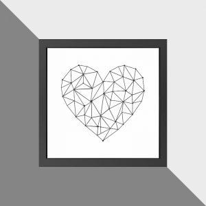 quadro-coracao-aramado-moldura-branca-walldone