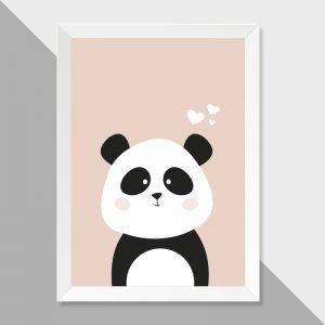 quadro-panda-moldura-branca-walldone