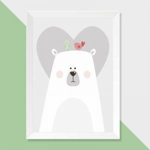 quadro-urso-moldura-branca-walldone