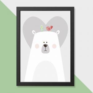 quadro-urso-moldura-preta-walldone